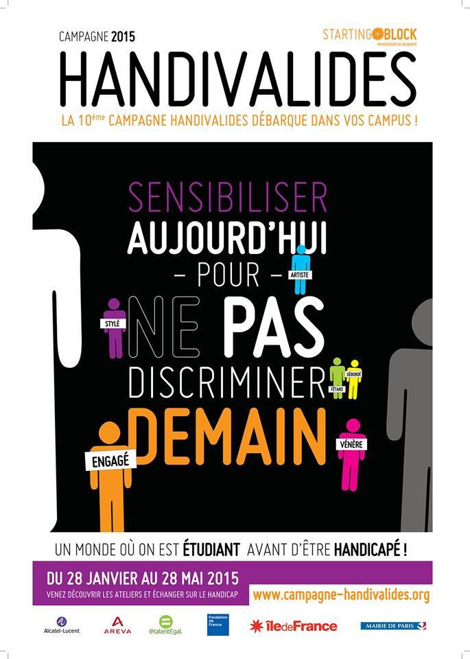 Affiche de la Journée Handivalide 2015