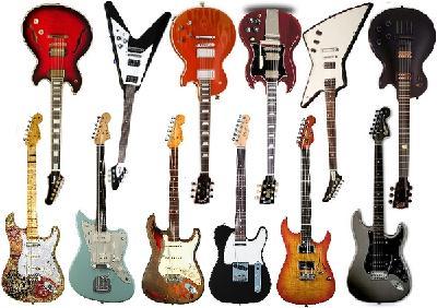 Diversité des formes de guitares électriques